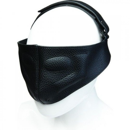 LEATHER BLINDING MASK NEGRO